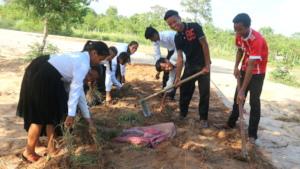 Students Creating a School Garden