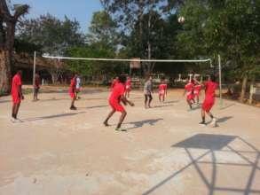 Volleyball Court in Run Ta Ek
