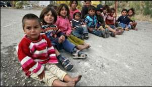 Orphans just outside of Aleppo