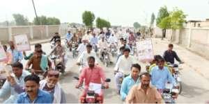 Motorbikes Hepatitis awareness rally- Ghotki