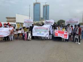 WHD walk with active participation  of community