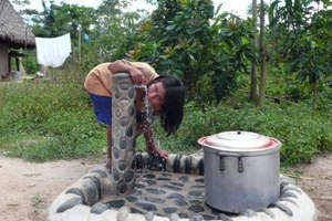 Water flows clean 24/7 to each village home.