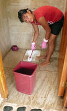 Maintenance of bathrooms at school w/youth.