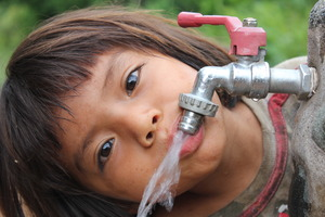 Clean water flows to every child in Tayakome.