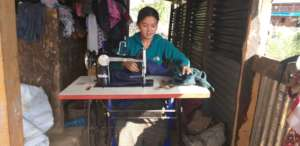 Ms. Kumari in her shop