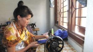 Receiving training at JHF Kathmandu shelter
