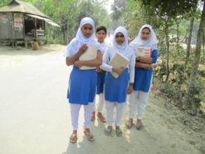 Babita goes to school with her Classmates.JPG