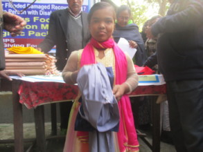 Bappi received School Uniform support with GG