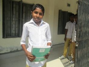 Pronab is  reading Mainstream  School