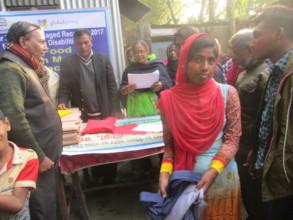 Rahima Recieved School dress with GlobalGiving