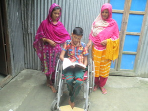 Rajan with his mother and sister at home