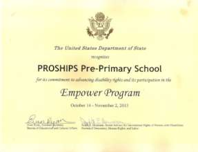 Recognition Certificate from USA on Education