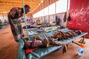 Children at a Cholera treatment center, Somalia