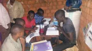 studying by solar