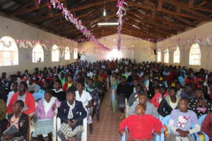 Chruc packed with young people