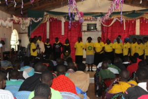 HFAW CHHRP and Newly trained youth together @churc