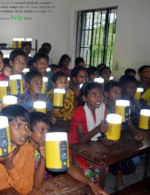 Help them with solar lamp
