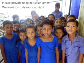 Help them to get solar lamps