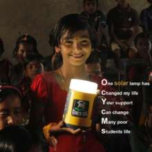 Poor Students life is changing by the solar lamp