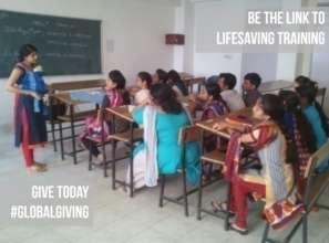 Simulation-based training on life saving tools
