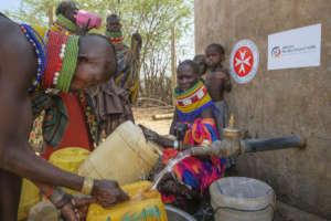 Water distribution in Nasinyono village