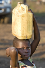 Children suffer quickly from hunger and thirst