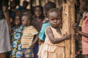a girl in Southern Sudan