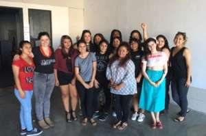 Youth received notes from writer Ligiah Villalobos