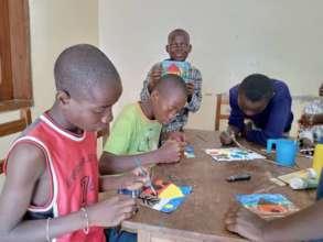 Boys being creative