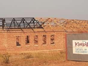 Roof going on the Kimbilio Primary School!