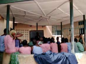 The female inmates waiting for their packages