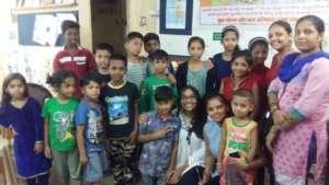 Intern with Children & Office Staff