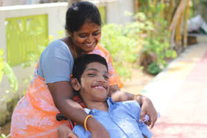 Padmavathi with her son