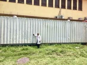 Dr. Watsenga at the FFO farm