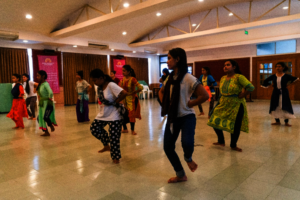 Students take part in a dance class