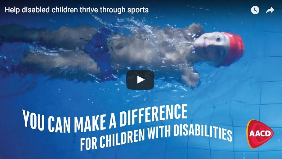Help disabled children thrive through sports