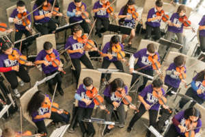 Violin Students - Music Unites the World Festival