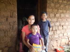 Mother with Two Boys