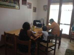 A family receiving!
