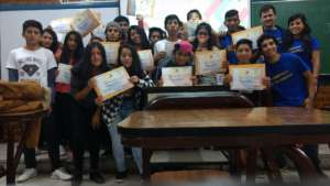 Everyone happy with their certificates