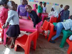 New classroom tables @ our RISE creche