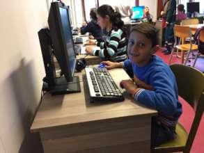 Amarildo (3rd Grade) in Computer Lab
