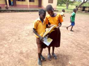 Danamu and Abena sharing their exam