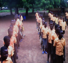 Pupils of Bolni Primary during Assembly Session