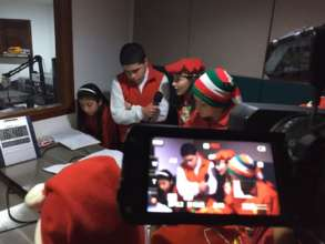 Recording the Christmas Radio Show