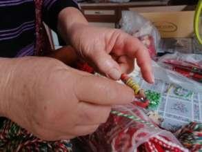 Granny Svetla making martenitsi