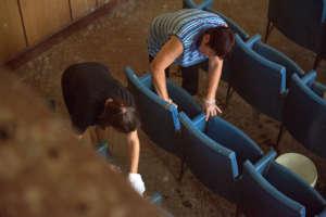 Renovating a cinema hall in Koshava village