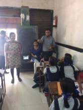 Volunteers from ITM conducting Health Awareness
