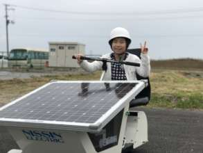 Riding in a solar-powered car