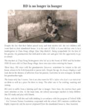 Story of BD - a poor child